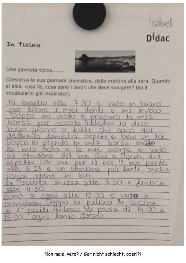Projekt - giornata in Ticino