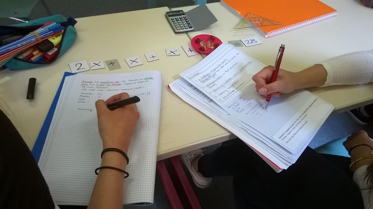 Mathematik-Klasse: Angewandte Gleichungen bei Textaufgaben | Didac ...